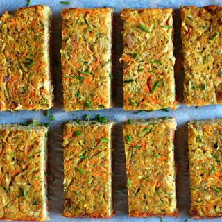 Zucchini Carrot Slices [Vegan].