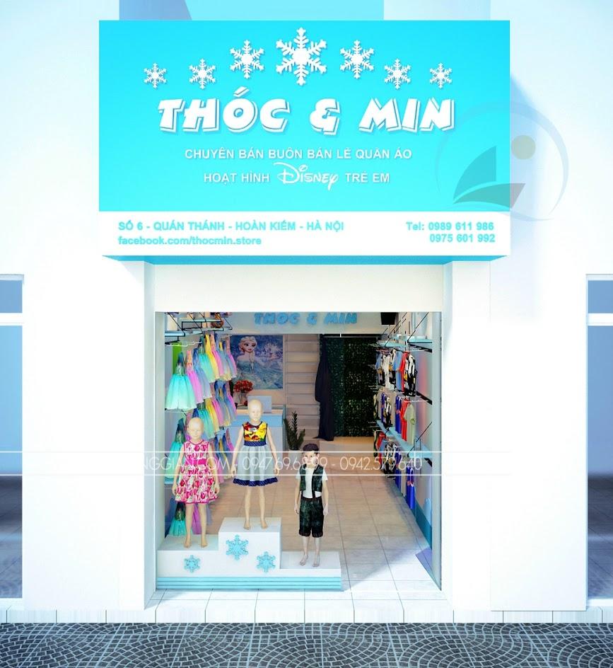 thiết kế shop thời trang trẻ em nhỏ