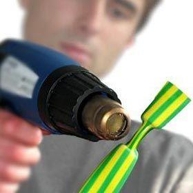 При термоусадке лучше использовать тепловой фен