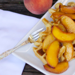 Spiced Peaches and Malted Waffles