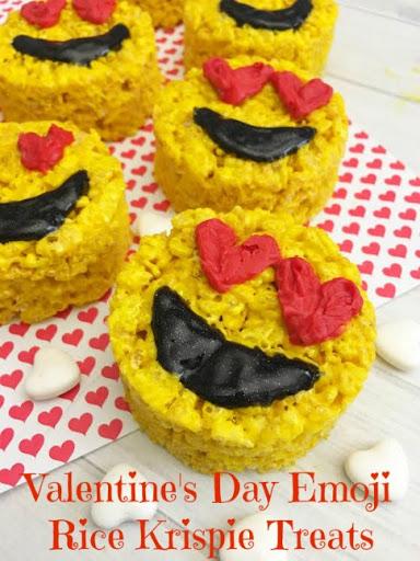 Valentine's Day Emoji Rice Krispie Treats