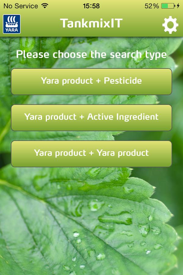 Yara TankmixIT- screenshot