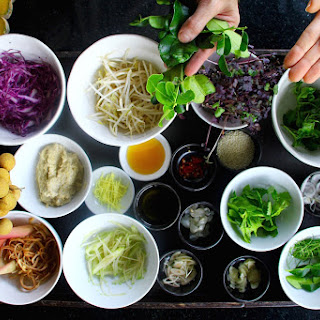 Gourmet Raw Pad Thai Salad from the Chef at Anantara Phuket.