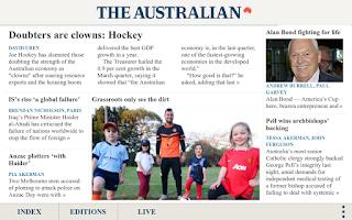 Screenshot of The Australian