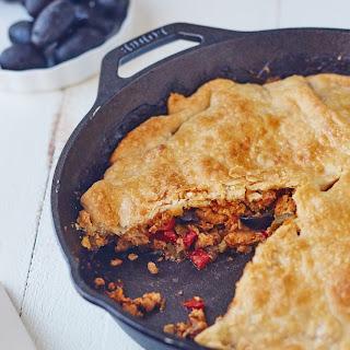 Skillet Chicken Empanada Pie.