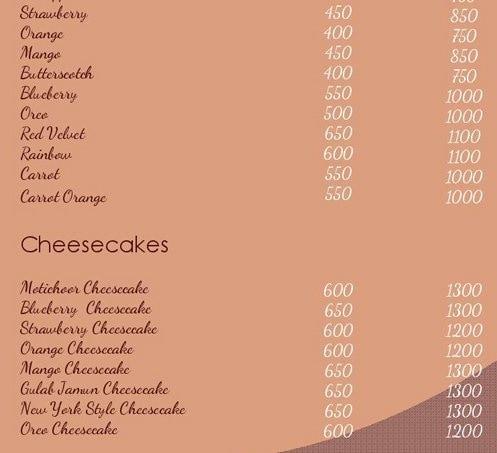 The Baked Tales menu 3