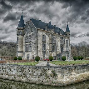 by Egon Zitter - Buildings & Architecture Public & Historical ( clouds, old, dutch, castle, netherlands )