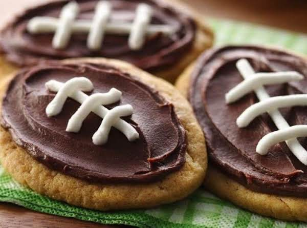 Frosted Peanut Butter Football Cookies Recipe