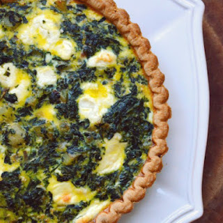 Potato, Spinach, and Goat Cheese Quiche