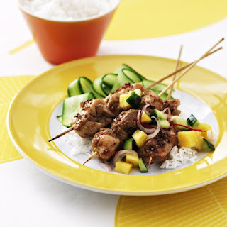 Malay Chicken Skewers with Cucumber Pineapple Salsa