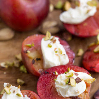 Grilled Plums with Mascarpone Recipe
