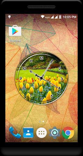 Garden Clock Live Wallpaper  screenshots 1