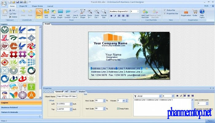 EximiousSoft Business Card Designer Pro Free Download