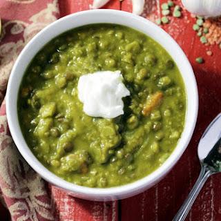 Lentil Pea Soup Recipe