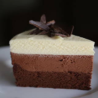 Triple-Chocolate Mousse Cake.