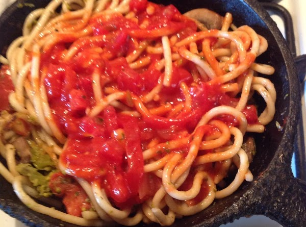 Another idea that's quick and easy...Boil Tomato sauce that has tomato purée, and Italian...