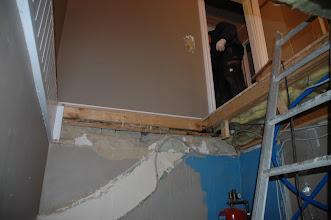 Photo: Så kunne en bruge trappen, så den er væk og en stige er taget i brug.