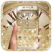 Gold Diamond Deluxe Clock