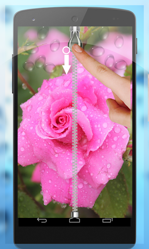 Water Drop Zip Screen Lock