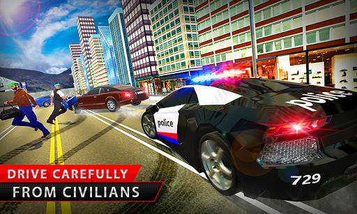 US Police Car Chase Cop Robot Transform Simulator for PC