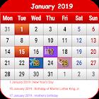US Calendar 2019 icon
