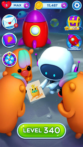 Little Odd Galaxy - Match 3 Puzzle Game  captures d'écran 2