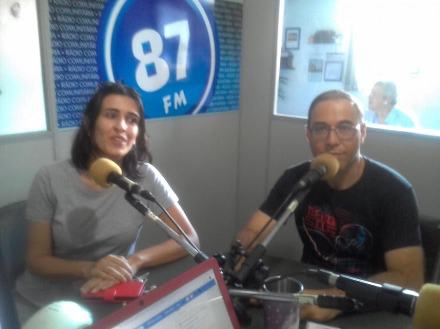 Poliana Oliveira e Prof. José Oséas