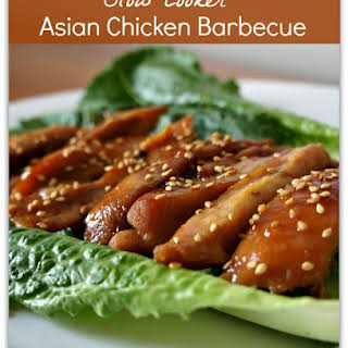 Recipe for Slow Cooker Asian Chicken Barbecue.