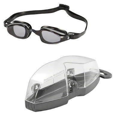 Michael Phelps K-180 Goggles: Silver/Black with Smoke Lens alternate image 0