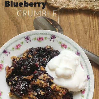 Quick and Easy Blueberry Crumble made with Frozen Berries