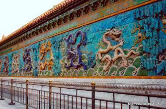 Photo: 2007-09-02. Beijing. Bezoek aan de Verboden Stad. De 9-drakenmuur.