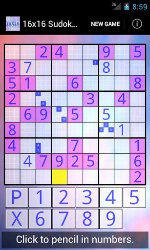 16x16 Sudoku Challenge HD 3.8.3 screenshots 2