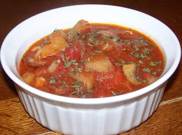 Chicken Cacciatore Soup Recipe