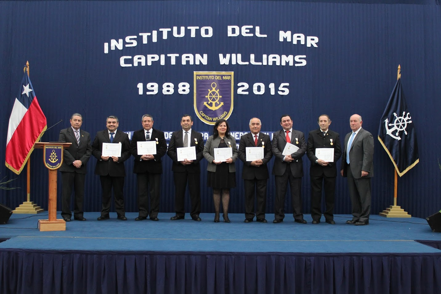 CEREMONIA ANIVERSARIO INSTITUTO DEL MAR 2015