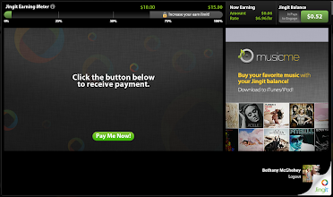 "Photo: Click the green ""Pay Me Now!"" button to cash your your Jingit Balance."