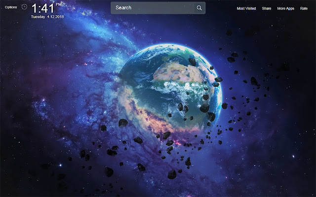 Planet Wallpapers Theme New Tab