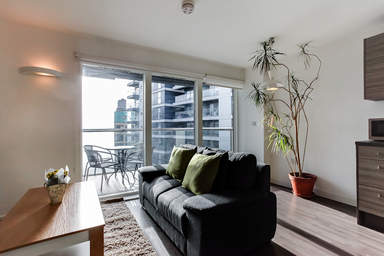 living space at Barbican apartment