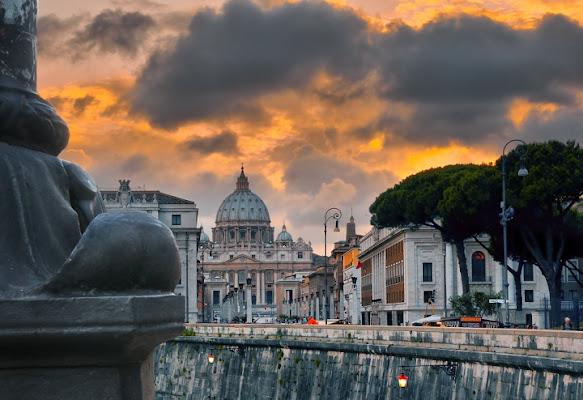 Tramonto su Roma di teppistocle