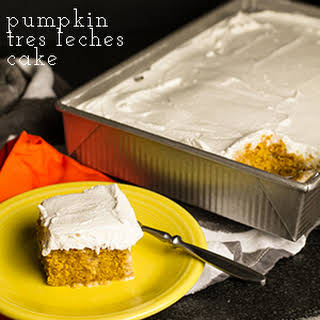 Pumpkin Tres Leches Cake.