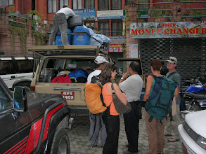 Photo: Departure from Marshyangdi Hotel, Kathmandu