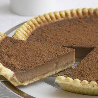 Chocolate and Irish Cream Custard Tart.