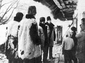 Photo: Węgierscy kolędnicy - Regösök (Újkér, Győr-Sopron m., 1969)  - fot. Magyar Néprajzilexikon