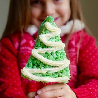 Rice Krispies Treats Christmas Trees.