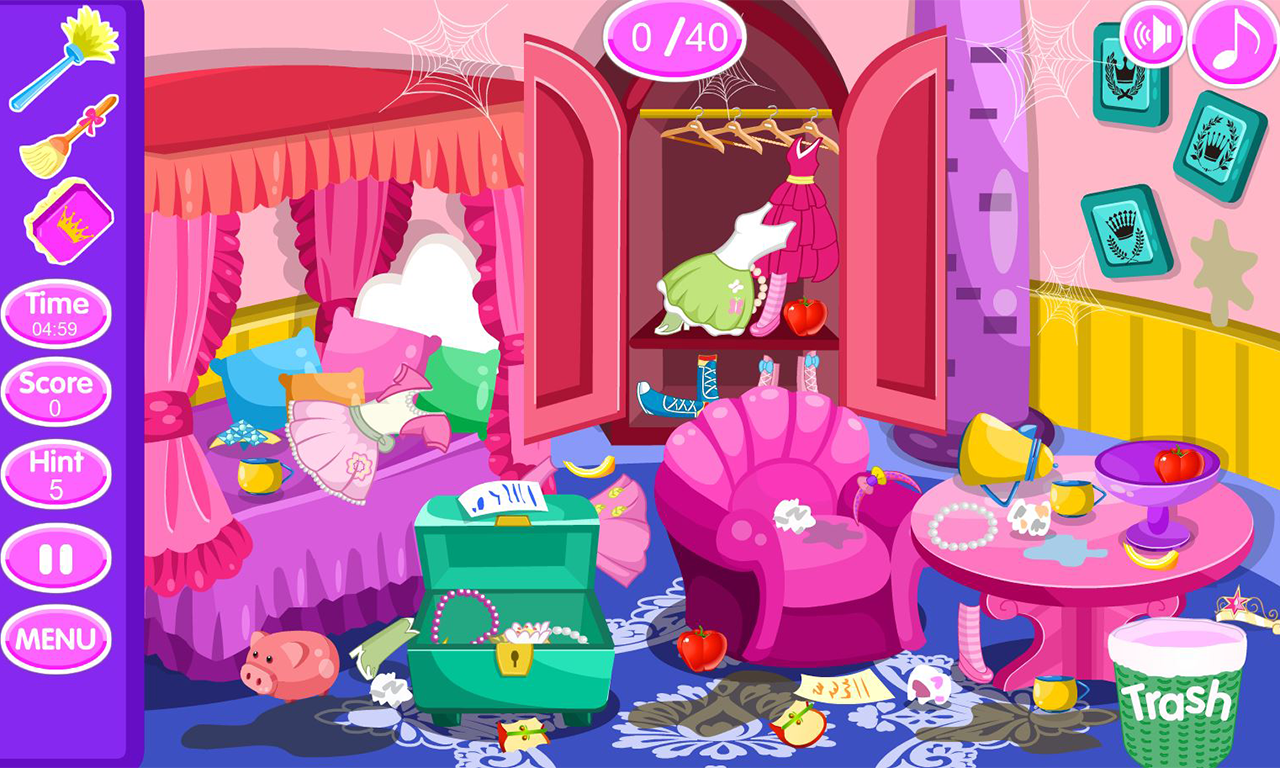 Princess room cleanup android apps on google play for Cuarto ordenado animado