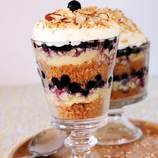 Coconut Cream Pie Parfaits with Blueberries
