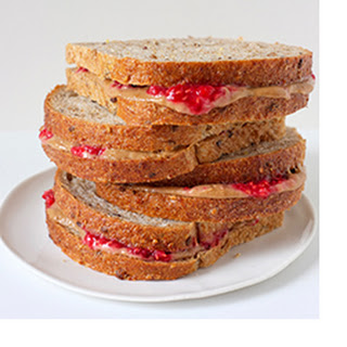 All-Fruit Peanut Butter and Jelly Sandwiches.