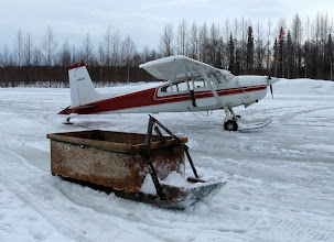 Photo: SKW - Snow machine sled used to ferry loads to checkpoint