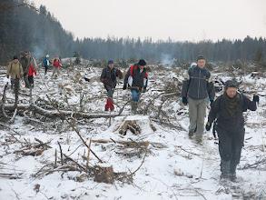 """Photo: Вырубленный лес от точки """"10"""" до точки """"11"""""""