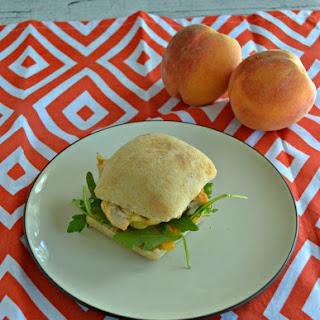 Chicken and Peach Sandwich.