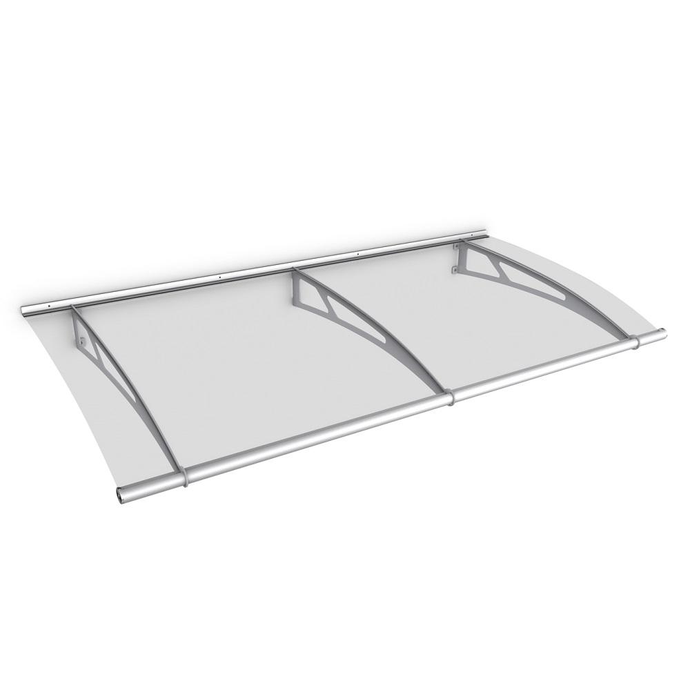 Schulte Auvent Marquise de Porte dentr/ée en Verre Acrylique transparent Fixation en blanc 190x95 cm